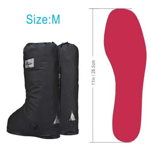 Rain Snow Boots Cover with Strip Travel Bike Motorcycle Boots Shoe Cover 1 Pair