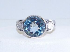 GENUINE-4-56cts-African-Topaz-Rub-Over-Ring-Solid-Sterling-Silver-925