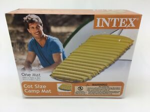 cot size air mattress Intex Inflatable Mat Cot Size Air Mattress Camping Outdoor  cot size air mattress