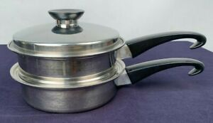 Seal-O-Matic-Thermium-Multi-Plex-Stainless-Sauce-Pan-amp-Steamer-amp-Lid-3-Pc