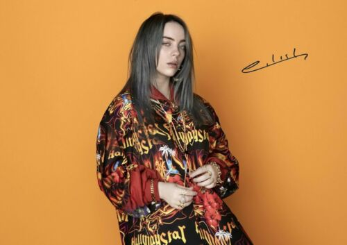 BILLIE EILISH Music Pop Singer BAD GUY USA Signed Autograph PRINT 6x4 Gift
