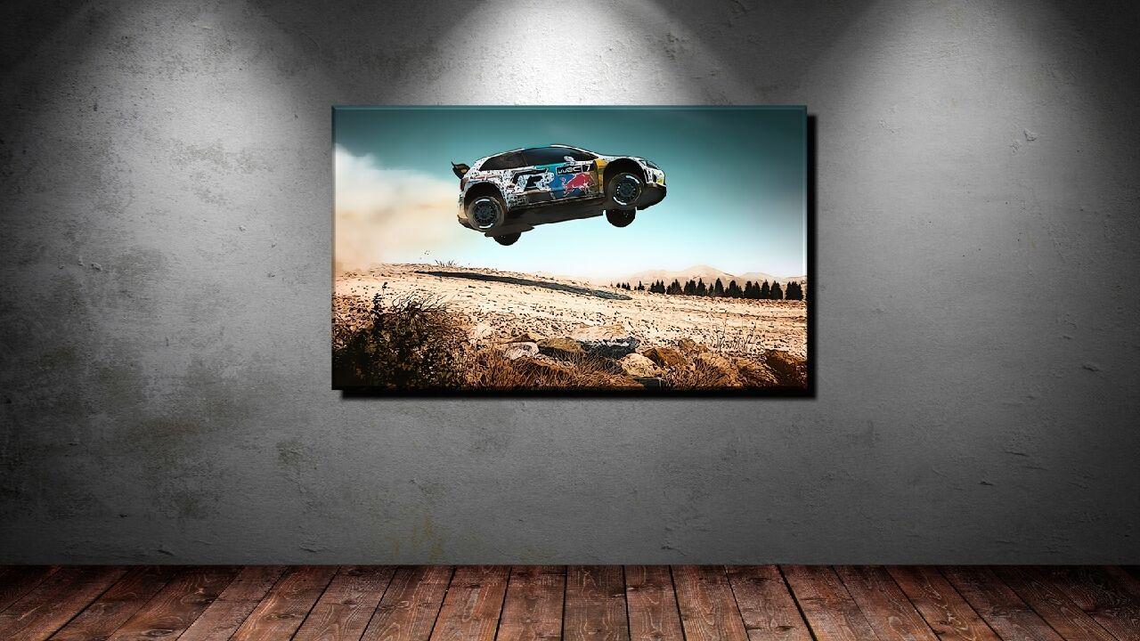 LEINWAND BILD BILDER XXL POP ART RALLY WRC MOTOR SPORT AUTO ABSTRAKT BIS 150x90