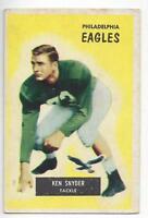 Ken Snyder 1955 Bowman NFL Football  Card # 63 Eagles
