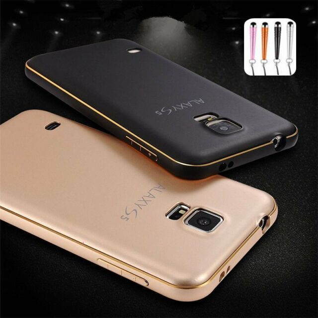 Luxury Ultra thin Aluminum Metal Bumper PC Back Case Cover For Samsung Galaxy