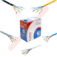 1000FT Cat5e Cat5 Bulk Ethernet Cable UTP Solid LAN Network RJ45 Wire Pull Box
