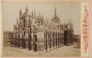 Cattedrale-Da-Milan-Duomo-Italia-Foto-PL17c2n45-Cartolina-Foto-Vintage-Albumina
