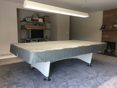 9 Foot Heavy Duty Fitted Pool Table Cover GRAY for BRUNSWICK GOLD CROWN 1 /& 2