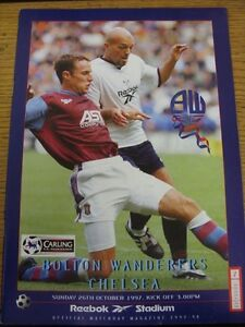 26101997 Bolton Wanderers v Chelsea  No Obvious Faults - <span itemprop=availableAtOrFrom>Birmingham, United Kingdom</span> - Returns accepted within 30 days after the item is delivered, if goods not as described. Buyer assumes responibilty for return proof of postage and costs. Most purchases from business s - Birmingham, United Kingdom