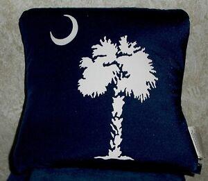 SOUTH-CAROLINA-Palmetto-State-Logo-BOLSTER-PILLOW-12-034-x-12-034-Square-Blue-amp-White