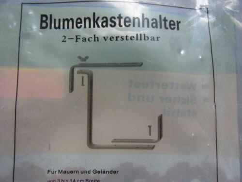 1 Paar Blumenkastenhalter für Blumenkasten Balkonkastenhalterung versch Farben