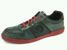 GUCCI LIMITED EDITION SS09 SNAKE SKIN SNEAKERS SHOES Green Red US 14.5 D/UK 13.5