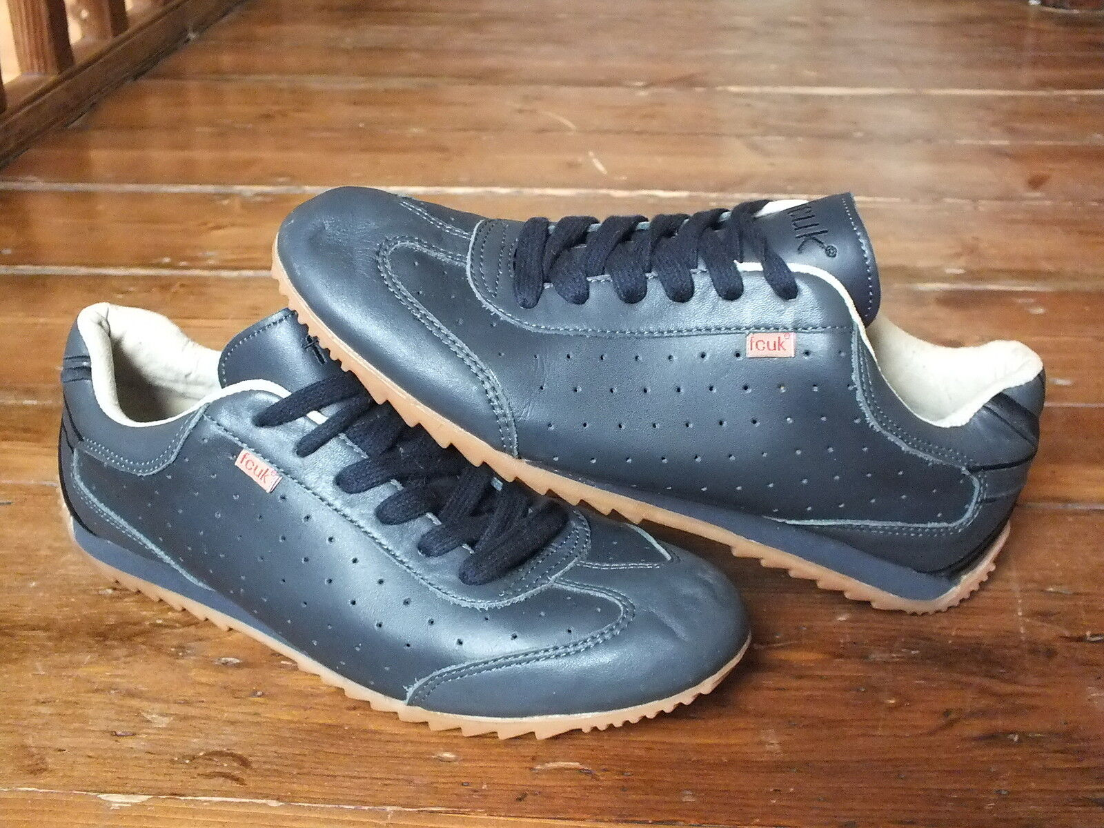 FCUK French Connection blueE TRAINERS, Size 8, Excellent Condition