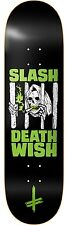 DEATHWISH - SLASH DEATH WEED SKATEBOARD DECK 8.25 INCH FREE GRIP FREE SHIPPING