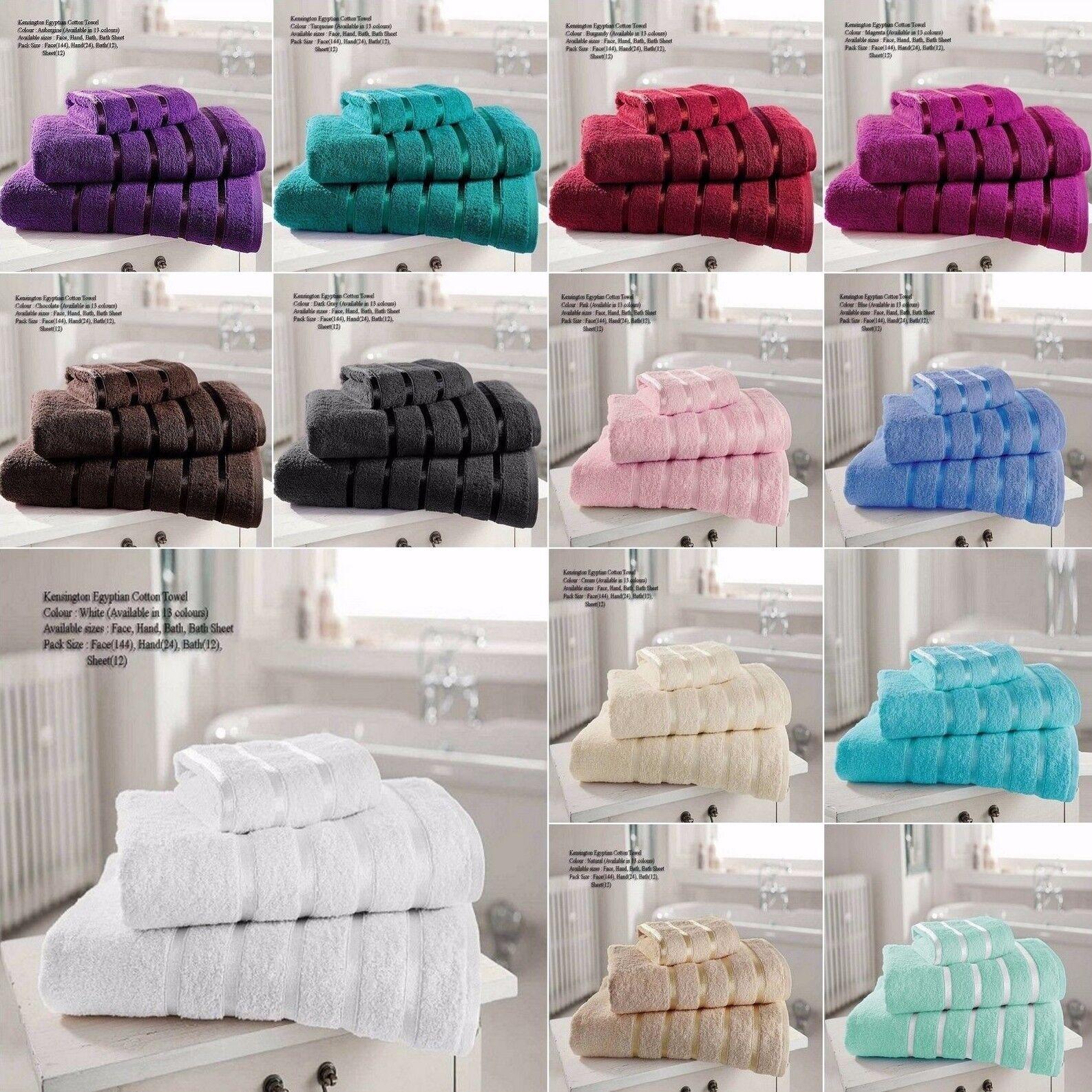 100% Douce en Coton égyptien Serviette 600 Gsm Main serviettes de bain bath Sheets Bale Set