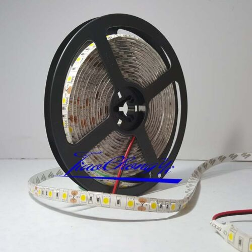 5M Warm White 12V 5050 SMD 300LED Strip light flexible 60led//m waterproof IP65