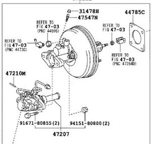 Details about TOYOTA SIENNA BRAKE BOOSTER ASSY WITH MASTER CYLINDER FITS  2006-2010