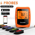 6 Probes bluetooth Wireless Cooking LCD Meat BBQ Oven Grill Smoker  !!