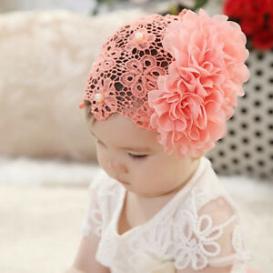Lace-Blume-Spitze-Haar-Band-Stirnband-Kopfband-Baby-Haarschmuck-Cute-Nett-Mode-1