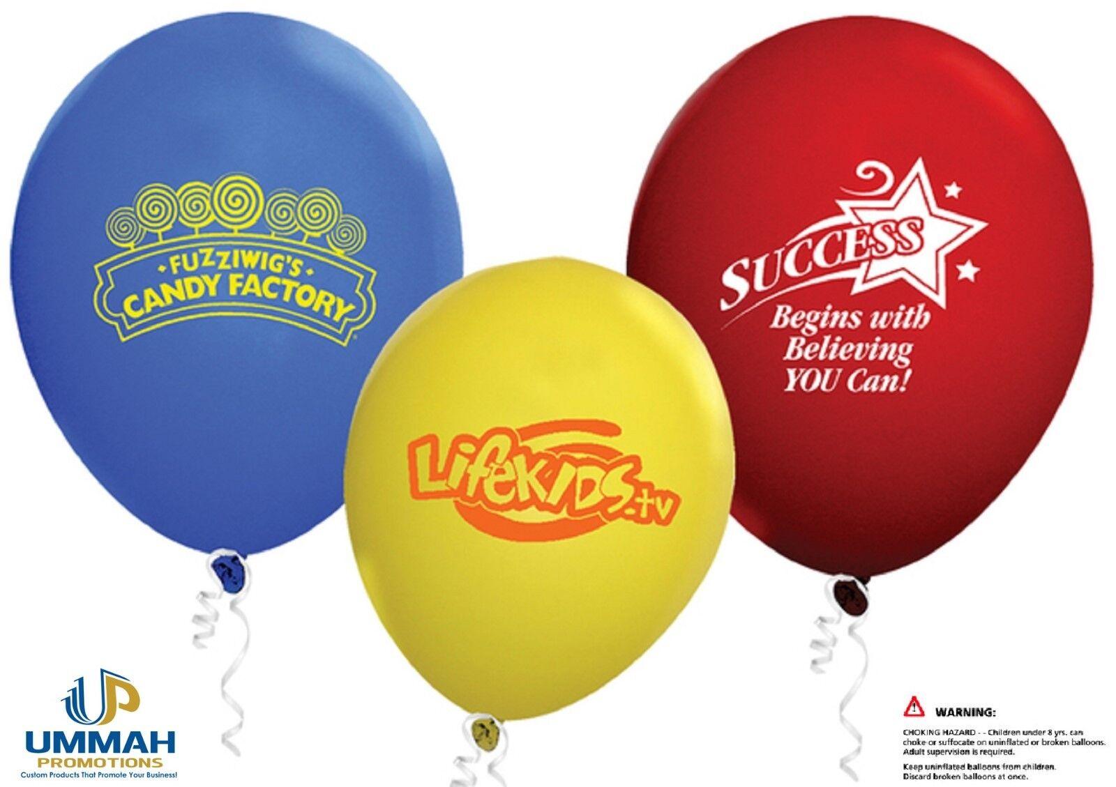 100 Personnalisé Standard 9  Latex Ballons imprimés avec votre logo ou message