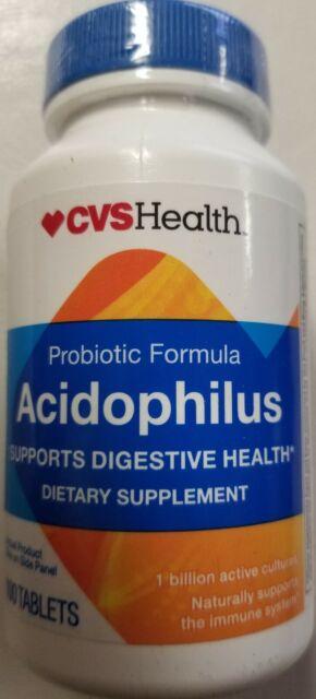 CVS Probiotic Acidophilus 100 Tablets Exp June 30 2019