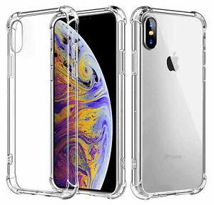 super popular 09450 b6d1e Details about Hybrid Shockproof Thin Clear TPU Bumper Case Fit iPhone XS  Max/XR /6/6s/8/7/Plus