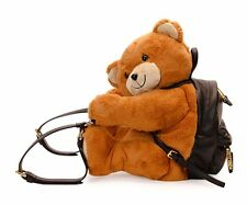$2295 AW15 Moschino Couture Jeremy Scott Teddy Bear LEATHER Ready 2Bear Backpack