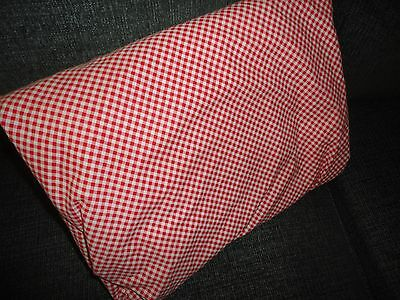 """TARGET HOME RED GINGHAM CHECK QUEEN FITTED SHEET 100% COTTON 9"""" POCKETS"""