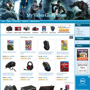 VIDEO-GAME-STORE-Online-Affiliate-Business-Website-For-Sale-Free-Domain-Name
