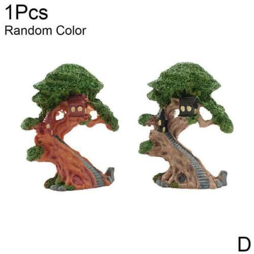 Mini Elves Tree House Garden Decor Miniatures Figurines Pot Craft Fairy A0T7