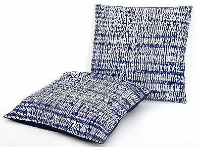 2 PC Indigo Tie Dye Cushion Cover Kantha Indian Pillow Cases Boho Sham Throw 16/""