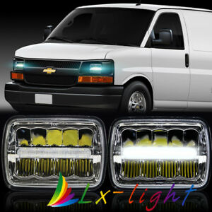 "5X7 7X6/"" 85W Halo LED Headlight For Chevy Express Cargo Van 1500 2500 3500 Truck"