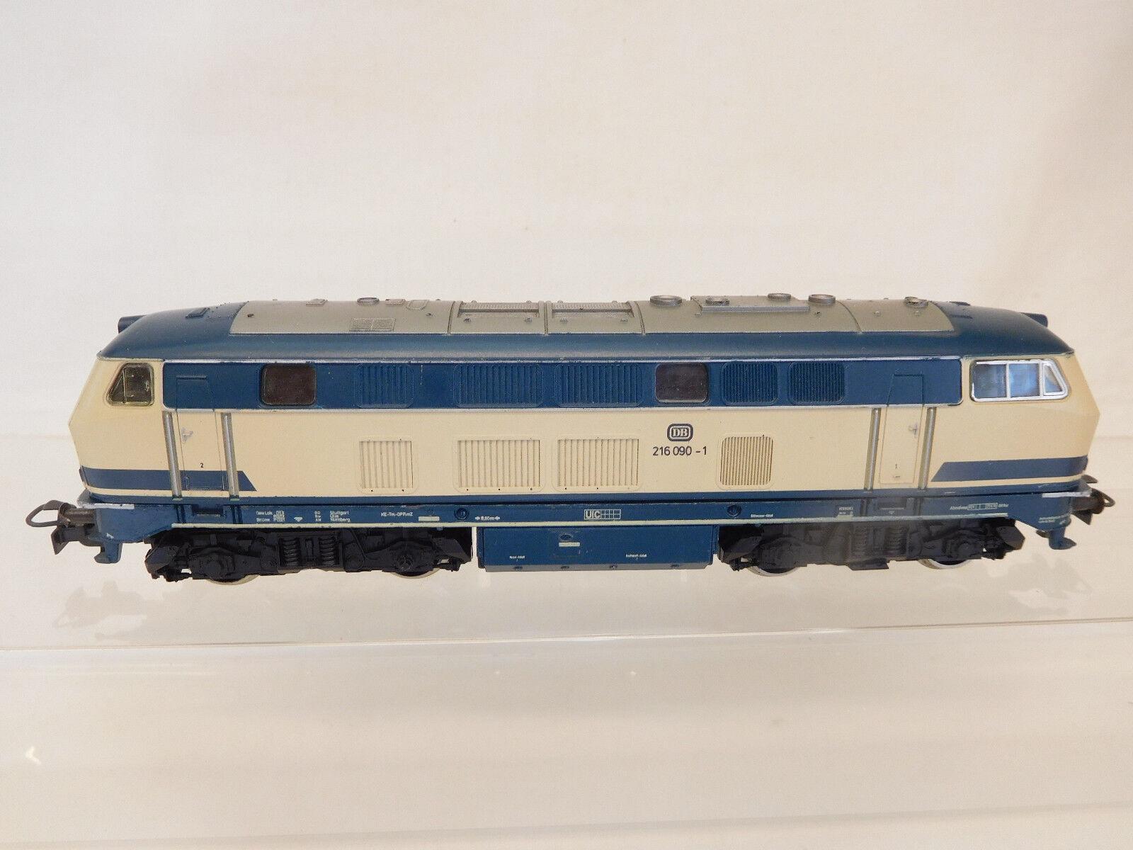 Mes-58553 Märklin h0 diesellok DB 216090-1 función probado
