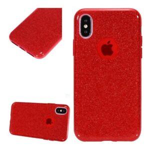 Apple-Iphone-XR-Coque-Silicone-Semi-Rigide-Rouge-Brillant-Anti-Choc