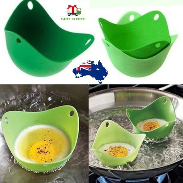 Silicone Pancake Egg Baking Cup Poacher Cook Poach Pods Cookware Bakeware Tool