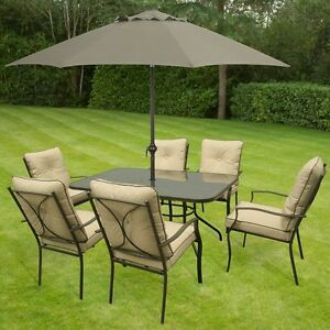 Image Is Loading Metal Garden Dining Set Outdoor Patio Furniture Table