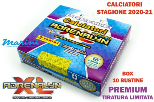 PANINI ADRENALYN XL CALCIATORI SERIE A 2020-21 BOX DA 10 BUSTINE PREMIUM LIMITED
