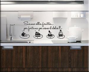 Adesivi murali frase cucina dolci decorazioni da parete for Stickers murali cucina