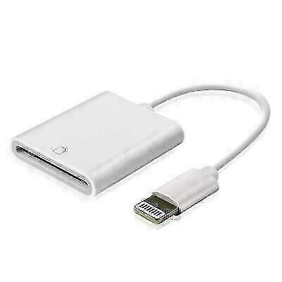Aiguoze A6075 SD Card Reader Adapter for iPad/iPhone - White