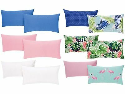 2 Renforcé Pillowcase Pillow Shams Cushion Cover Reversible Cushion 40 x 80 CM