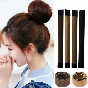 HAIR BUN MAKER French Magic Bands Twist Easy Snap Tool DIY Styling Donut Tool UK