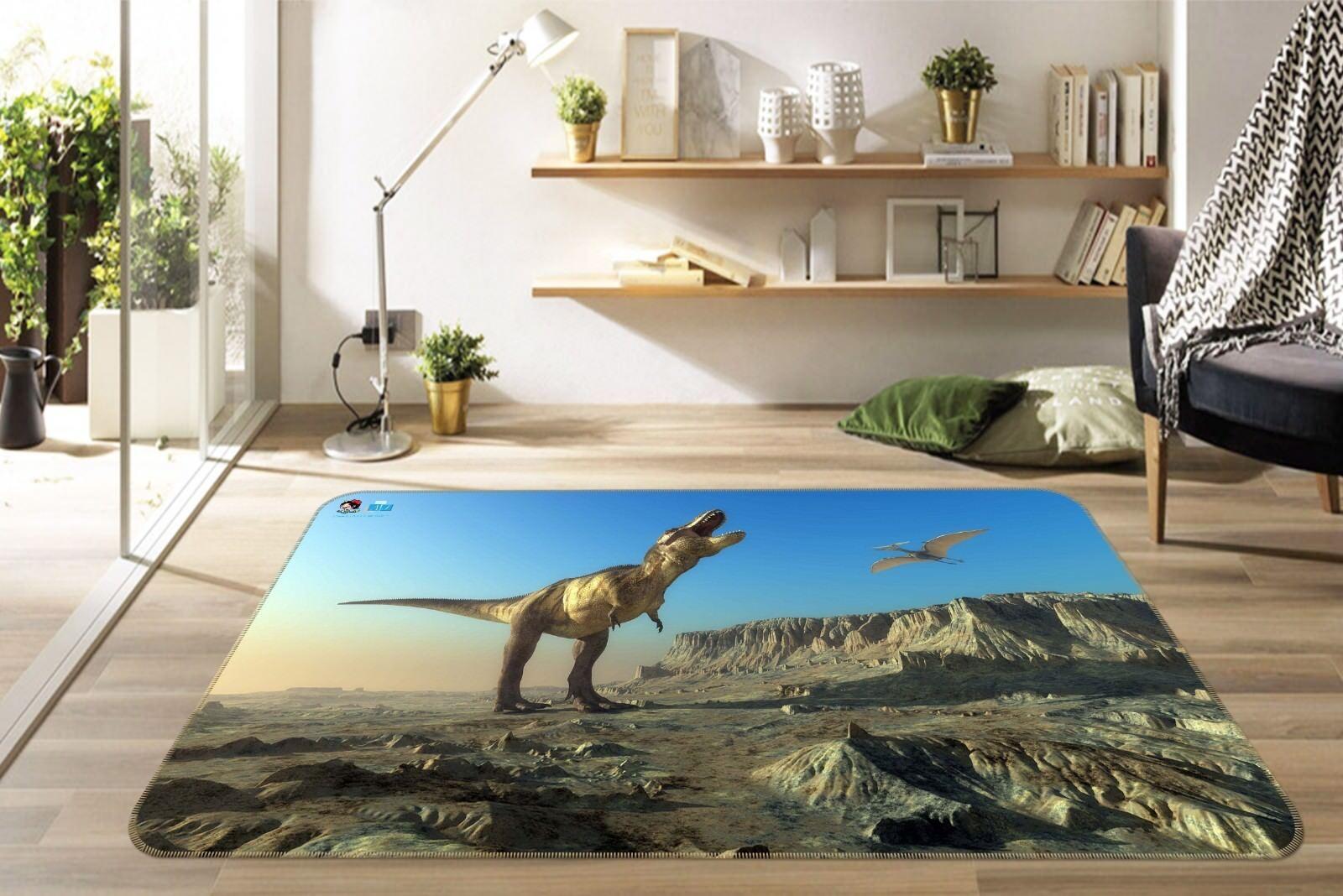 3d 5 dinosauri antiscivolo TAPPETO TAPPETINO BAGAGLIAIO Qualità Tappeto Elegante De