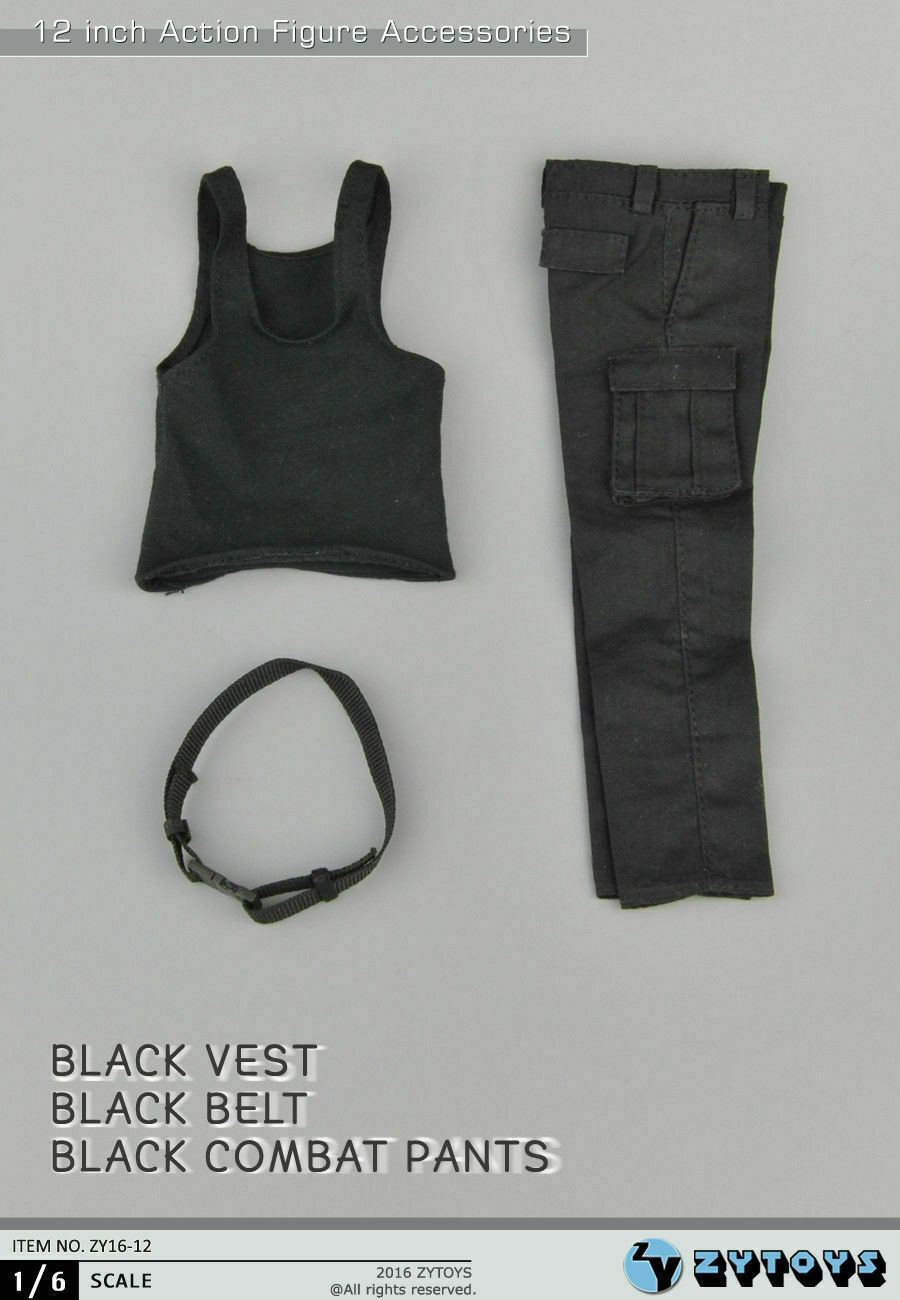 1//6 noir gilet pantalon Bane Rambo Stallone First Blood Sylvester Hot Toys ❶ USA ❶