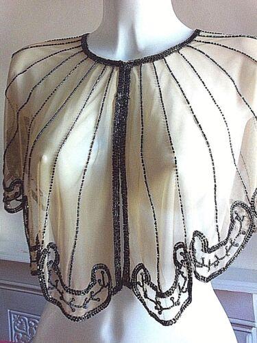 NEW SILVER SEQUIN PONCHO BRIDAL CREAM WEDDING CREAM VINTAGE CAPE BOLERO PINUP