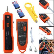 Network Ethernet Lan Kit Rj45 Rj11 Cable Tester Line Finder Tracker Toner Tracer