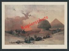 David Roberts Gizeh Cheops Pyramide Sphinx Wüste Beduinen Karawane Orient 1838