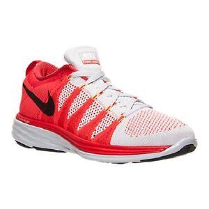 NEW NIKE FLYKNIT LUNAR 2 Running Shoes SZ 11 Platinum/Red/Black 620465-006 ii