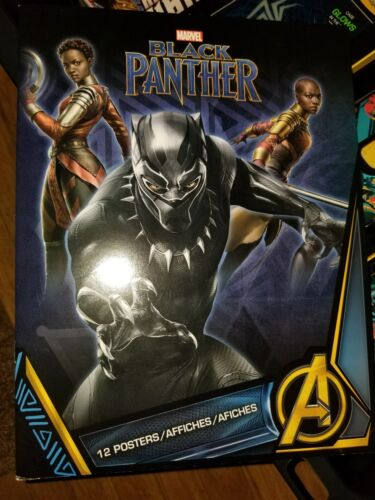 NEW Marvel Comics Black Panther movie Poster Book contain 12 Posters 8 1//2 × 11