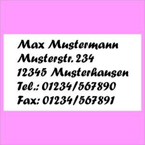 195-Adress-Etiketten-Absender-Etikett-Aufkleber-m-ihrem-persoenl-Text-bedruckt