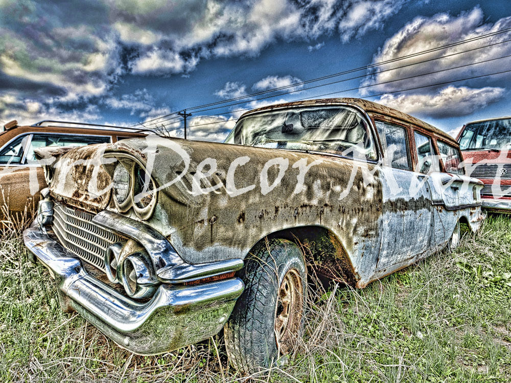 Chevy Wagon II - - CANVAS OR PRINT WALL ART
