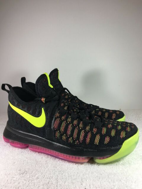 af1a19564623 Nike KD 9 Mens Basketball Shoes Size 12 Black Multi-color Volt Pink ...